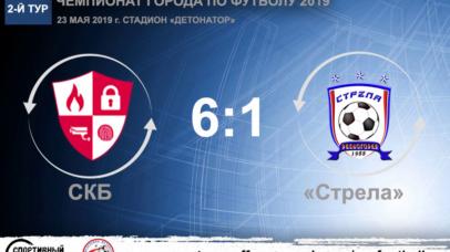 Чемпионат города по футболу 2019. СКБ – «Стрела» – 6:1. Протокольные данные